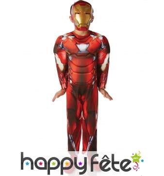 Costume rembourré Iron Man luxe pour enfant