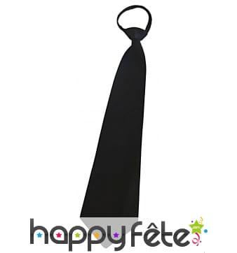 Cravate réglable noire