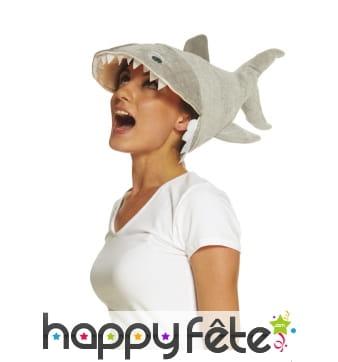 Chapeau requin pour adulte