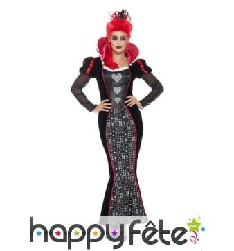 Costume robe reine de coeur moulante gothique