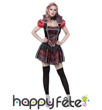 Costume robe tulle vampire araignée