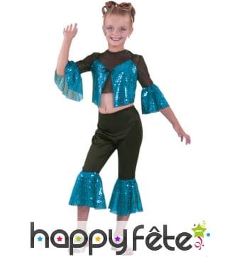 Costume starlette bleu enfant