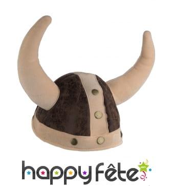 Casque souple de viking avec cornes