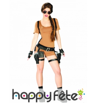 Combinaison shorty de Lara Croft