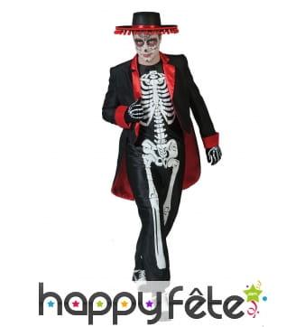 Costume squelette Dia de los muertos pour homme