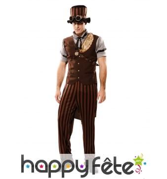 Costume steampunk marron pour homme