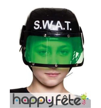 Casque SWAT noir pour enfant
