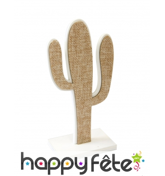 Cactus sur pied en toile marron de 15 cm