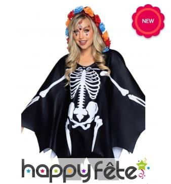 Cape squelette pour adulte