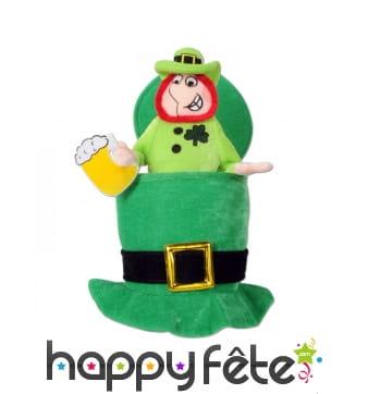 Chapeau Saint Patrick avec Leprechaun