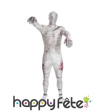 Costume seconde peau momie ensanglantée