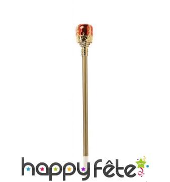 Canne sceptre royal en plastique
