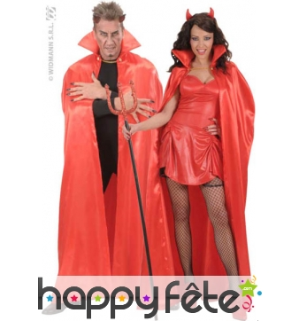 Cape satin rouge luxe