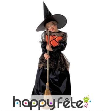 Costume sorcière robe large pour enfant