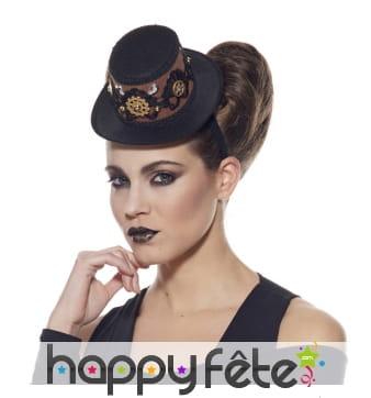 Chapeau steampunk sur serre tête