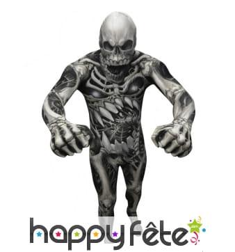 Costume skull seconde peau squelette