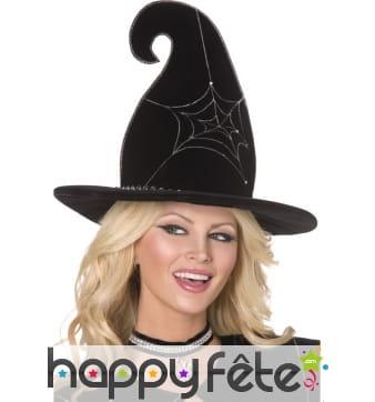 Chapeau sorcière toile araignée