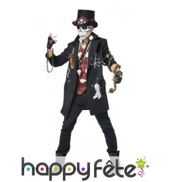 Costume steampunk vaudou pour homme
