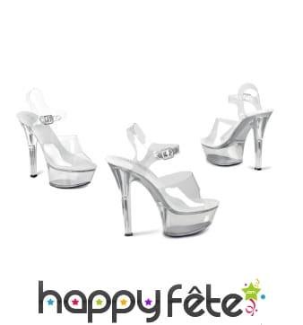 Chaussures transparentes à talons