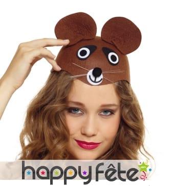 Chapeau tête d'ours brun pour adulte