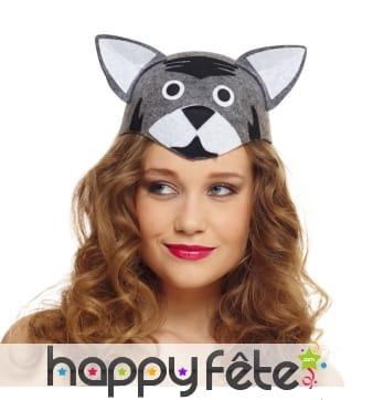 Chapeau tête de chat pour adulte