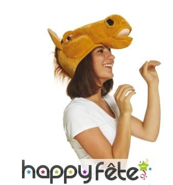 Chapeau tête de cheval pour adulte