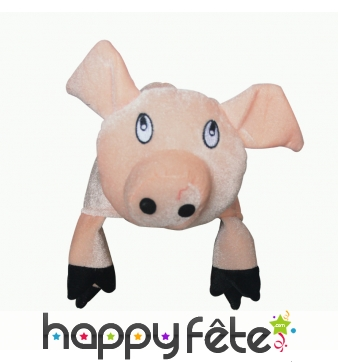 Chapeau tête de cochon pour adulte