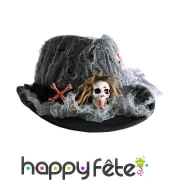 Chapeau toile d'araignée Halloween