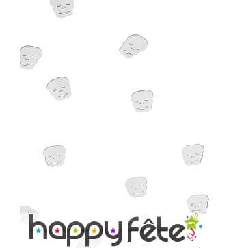 Confettis tête de mort pour table de Halloween
