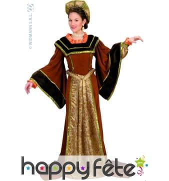 Costume Tudor dame médiévale