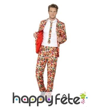 Costumes trois pièces sucreries multicolores