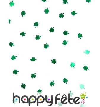 Confettis trèfles verts St Patrick, 28g