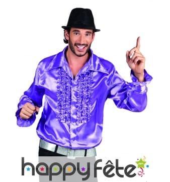 Chemise violette disco pour homme