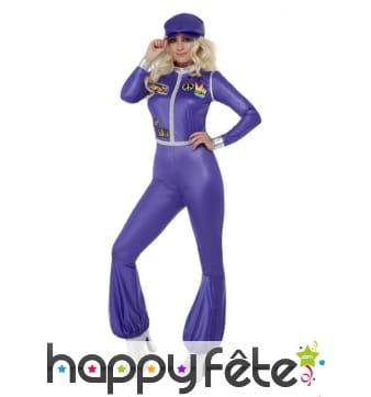 Combi violette de danseuse des années 70