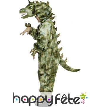 Combinaison verte de dinosaure pour enfant