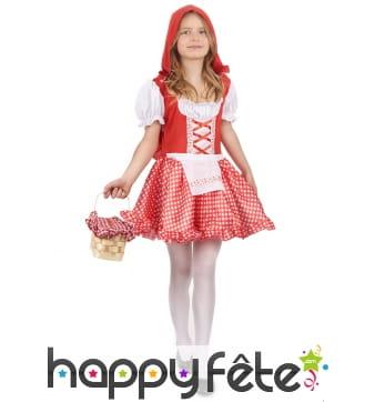 Costume vichy de petit chaperon rouge pour enfant