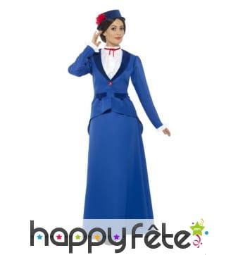Costume victorien de nounou pour femme