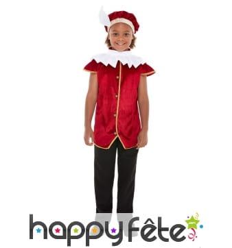 Chapeau, veste et collerette de Tudor pour enfant