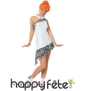Costume Wilma Pierrafeu pour femme adulte