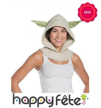 Capuche Yoda pour adulte