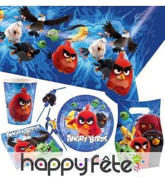 Décorations Angry Birds de table d'anniversaire