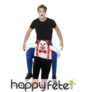 Déguisement à dos de clown sinistre