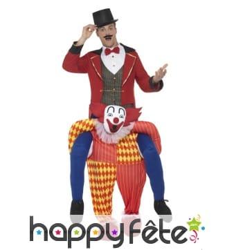 Déguisement à dos de clown