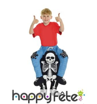 Déguisement à dos de squelette pour enfant
