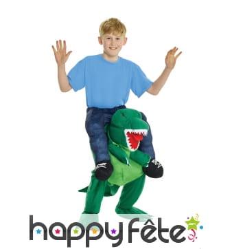 Déguisement à dos de T-rex pour enfant