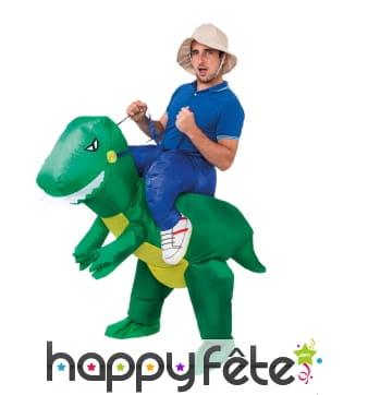 Déguisement à dos de T-rex