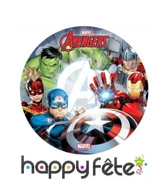 Disque Avengers en azyme de 20 cm