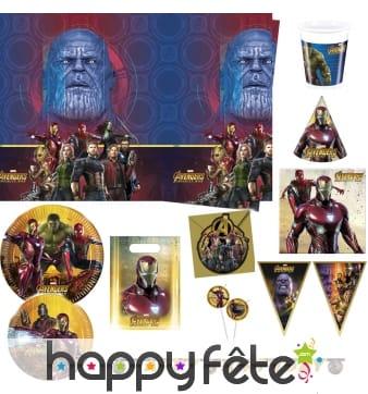 Déco Avengers Infinity War pour anniversaire