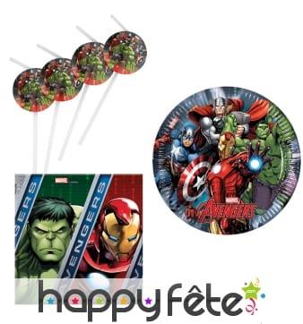 Déco Avengers Power pour anniversaire