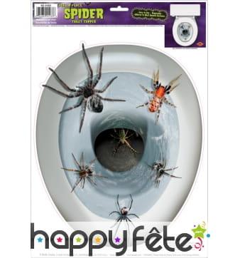Décoration araignées pour cuvette de wc